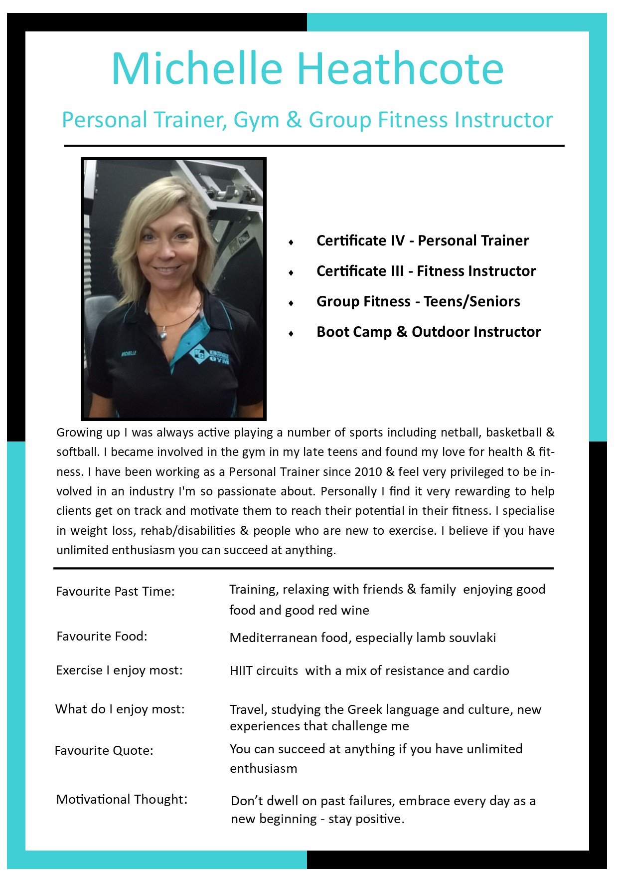 trainer profile gym trainers personal services pass guest